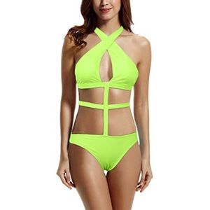 Zeraca Lime Punch One Piece Size XL Swimsuit
